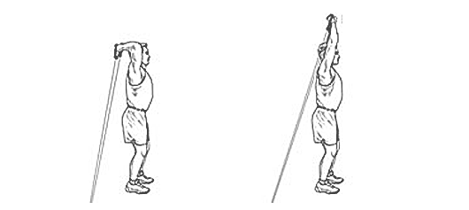 Resistance Band Triceps Extensions