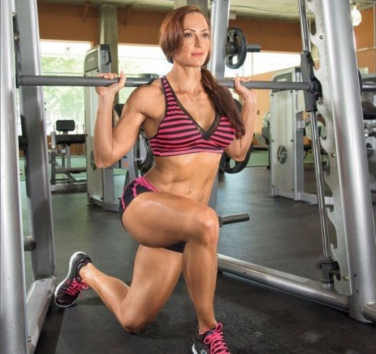 Curtsy Lunge on Smith Machine