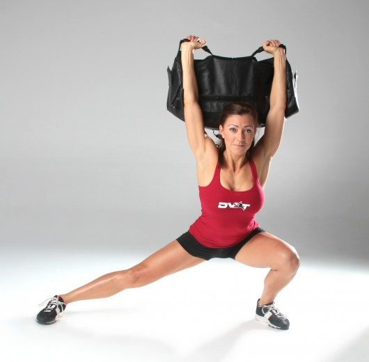 Sandbag Lateral Lunges