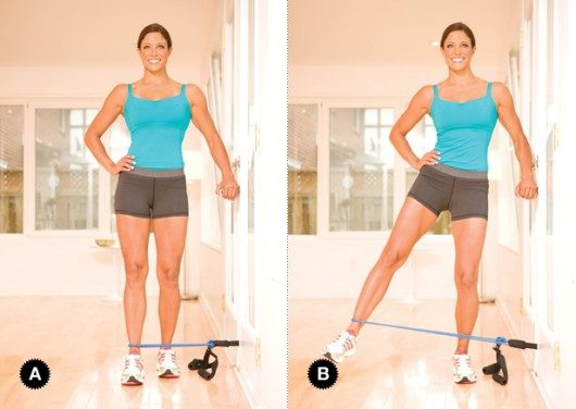 Resistance Band Side Kicks