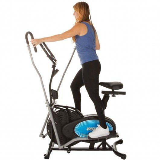 Trainer Elliptical & Exercise Bike with Pulse Sensor