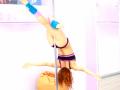Lean back Pole dance move