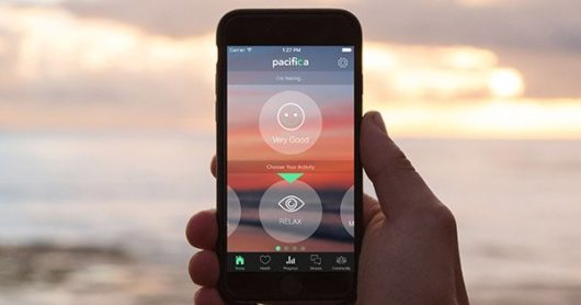 Pacifica home screen on the phone