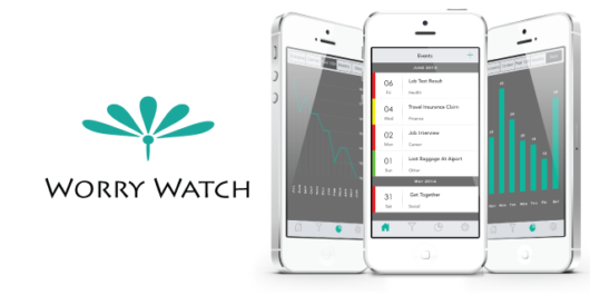 Worry Watch app shown on the phone