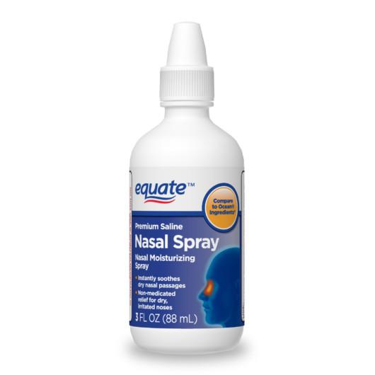 Nasal spray on white background