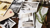 Postcards on the table