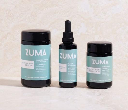 Zuma Nutrition Detox supplements on light background