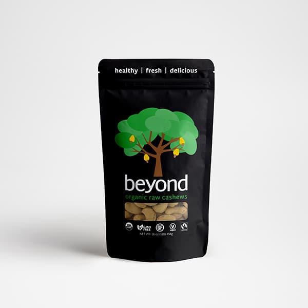 Beyond organic cashew. Fair trade cashew brand