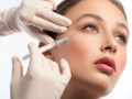 Young girl getting Botox treatment