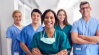 Healthcare professionals are happily smiling